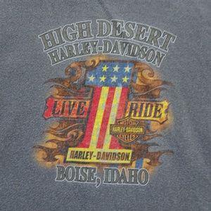 Harley Davidson Boise Idaho Long Sleeve Tee Large